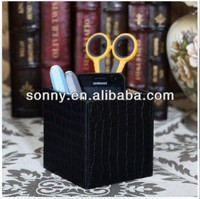 Cool Business Style Top Fashion Black Crocodile PU Office Table Decoration