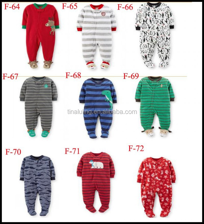 TinaLuLing Hot Selling Boys and Girls Winter Pajama with feet, Baby One piece Jumpsuits