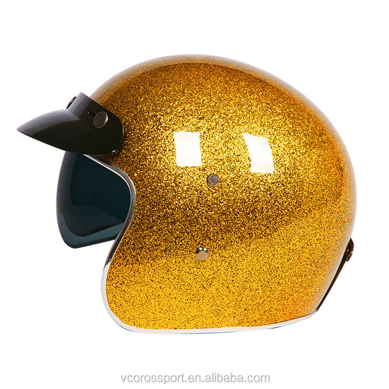 Personalized Glass fiber motorcycle helmet open face vintage retro scooter helmets