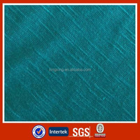 Shaoxing textile cheap poly rayon TR slub jersey fabric