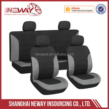 universal 9pcs car seat cover made of luxury leather