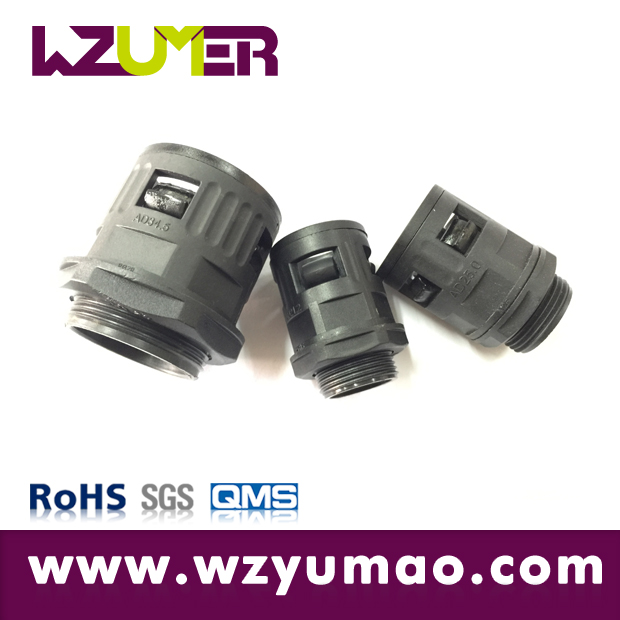 WZUMER Polyamide Nylon Plastic Metric/PG Insulated Cable Protection Corrugated Conduit Connector