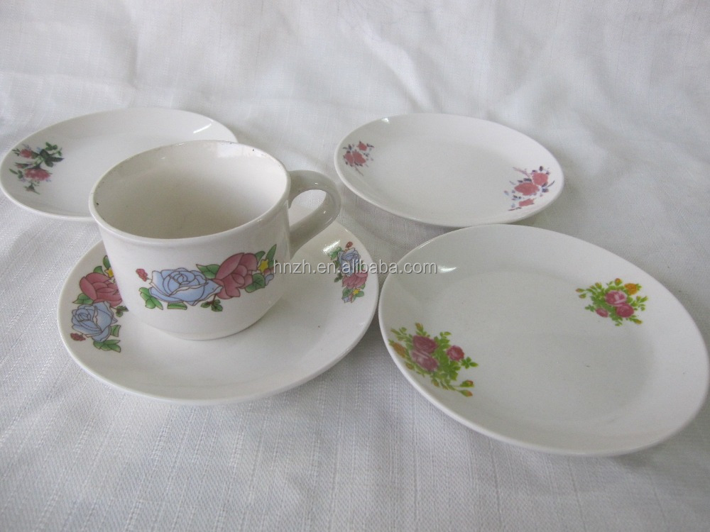 "stock 9"" 10.5"" wholesale ceramic white porcelain plate dishes for hotel restaurant"