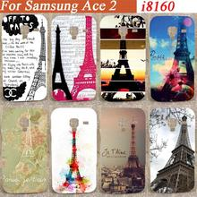 Style Print pattern Eiffel Towers desing hard Case Cover For Samsung Galaxy Ace 2 II i8160 8160 diy colorful pattern case
