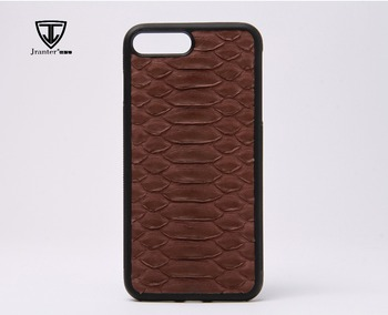 Brown Real Python Leather Phone Case