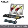 Touch screen or not usb hdmi VGA Audio Video1 Video2 input 4wire resistive hd video support SKD 5 lcd display panels