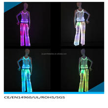 Popular ball gown fiber optic led light mini evening dress 2015