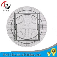 2015 leisure modern round plastic folding table