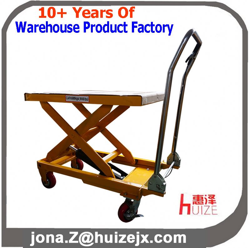 pedal Hand hydraulic mobile tool cart