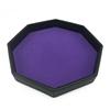 Black PU and purple velvet