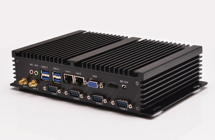 Partaker I2 Industrial Embedded PC Fanless Mini PC with 4 RS232 Intel Core C1037U I5 3317u