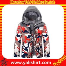 Camo men jacket down printed winter high quality with hood wholesales