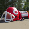 Factory price large player football helmet / red inflatable football tunnel