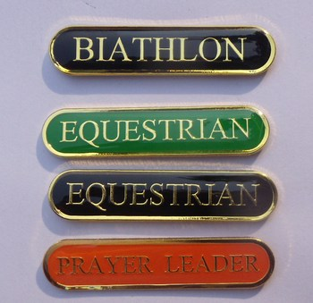 Iron stamped metal nameplate with magnet back