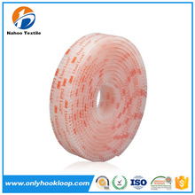 Special self adhesive hook loop with glue fastener tape, color adhesive hook loop, adhesive dots