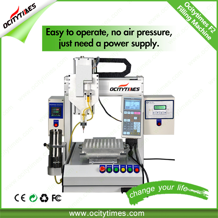 2016 Ocitytimes hot selling f2 pre-filled syringe filling machines with capping system