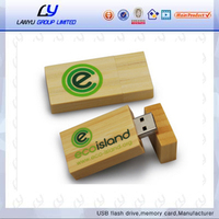Eco-friendly, cheap wooden usb flash drive with custom logo printing
