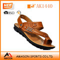 Fashion men comfort leather slipper sandals