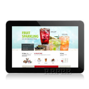 "19"" wall mount android tablet media player with wifi"