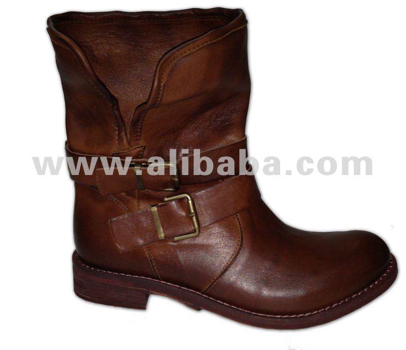 Simple Ankle boots low heels Top quality cow leather