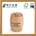 Eco-friendly varnish oak wooden coffee beans storage barrels tank