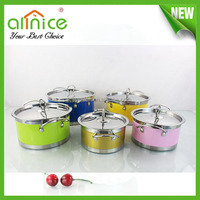 10pcs colorful multi-purpose cooking pot/mini cooking pot/round cooking pots