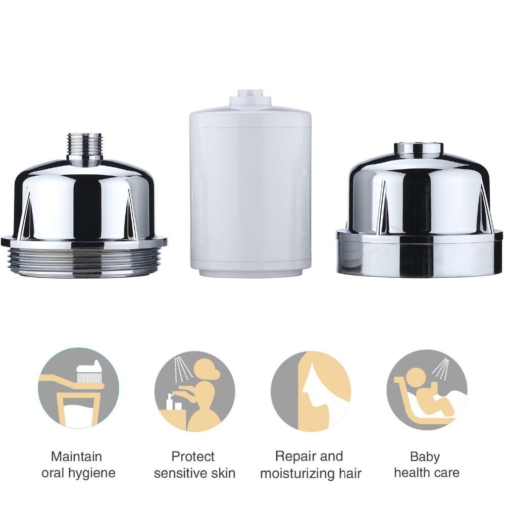 bright oem 3 stage chromed shower filter with kdf cartridge buy shower filter chromed shower. Black Bedroom Furniture Sets. Home Design Ideas