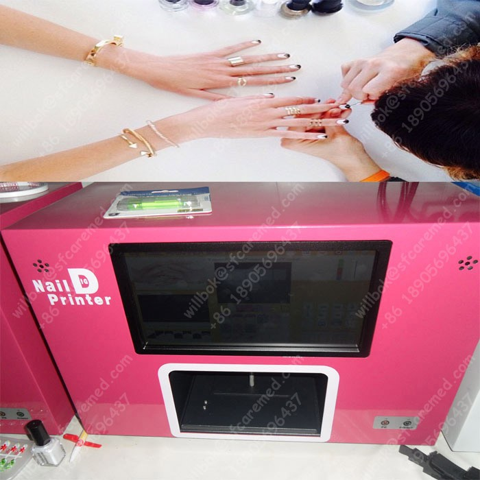 2016 Salon Artist Digital portable nail art printing machine with computer