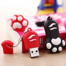 Hot Sale Cute Cat Paw USB Flash Drive 1-64G for Promotional Gift