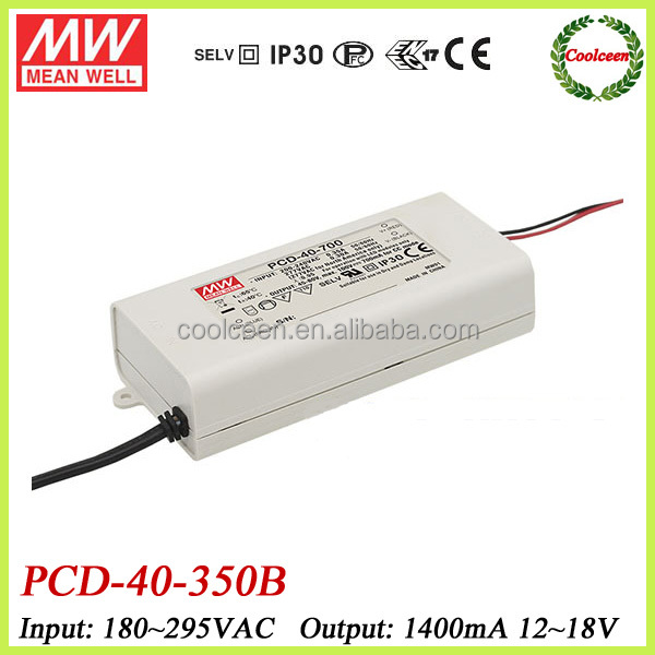 Meanwell led triac dimmable driver PCD-40-350B