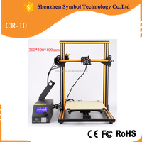 Hot sale Creality CR-10 DIY desktop 3D printer 300*300*400 mm printing size with heated bed 3D Printing machines