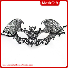 Halloween Masks Design~ Venetian Bat Style Solid Black Laser Cut Masquerade Party Masks MG003-BK