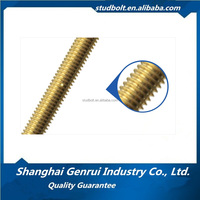 Brass full thread B7 B7M stud bolts for machine