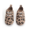 Cute animal leopard pattern baby oxford leather shoes kids