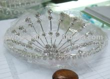 silver fashion rhinestone crystal jeweled hair crown women hair accessories tiaras