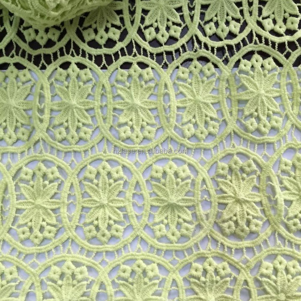 guipure cotton lace fabric <strong>used</strong> on women's fashion garment