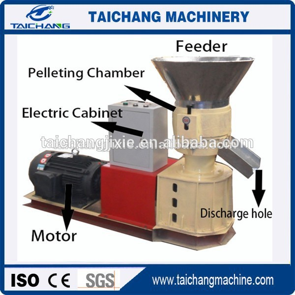 safe flat die grass animal feed pellet machine mill