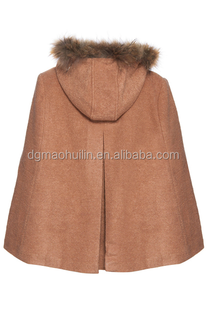 2015 fashion plus size Hooded Camel women winter cape