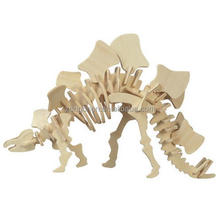 Hot sale custom plywood crafts funny 3d wooden gadget dinosaur cartoon puzzle toys