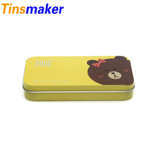 Manufacturer Promotional Small Rectangular Tin Boxes for postcard