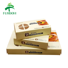 china private label rectangle decorative food egg tart cupcake sweet cookie paper cardboard waffle packaging box