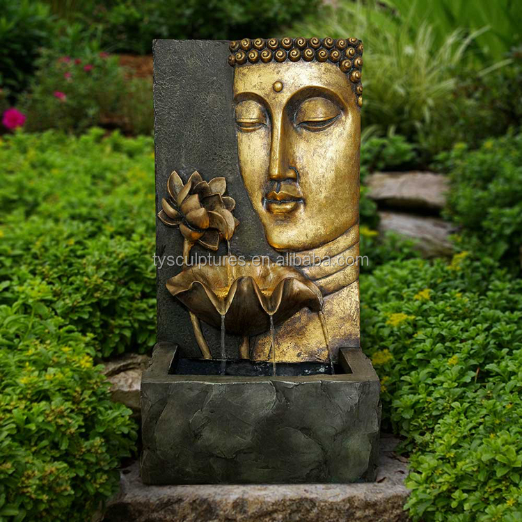 Hot sale antique outdoor stone buddha head wall fountain waterfall fountains for sale