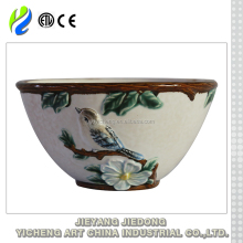 Beautiful pattern large size soup ceramic bowl wholesale
