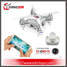 2.4G 6-axis Cheerson CX-10WD-TX Mini Wifi FPV Quadcopter with High Hold Mode RC Drone RTF