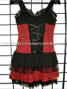 Beautiful Red and Black Color Children Frock