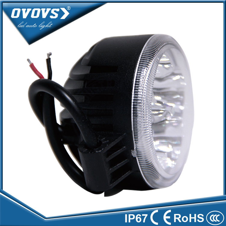 OVOVS factory prices 3inch round 12w cheap auto led off road work lights for tractor 4x4 Forklifts
