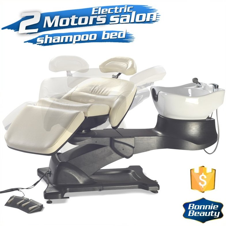 Electric lay down hair washing salon adjustable shampoo bed or shampoo chair