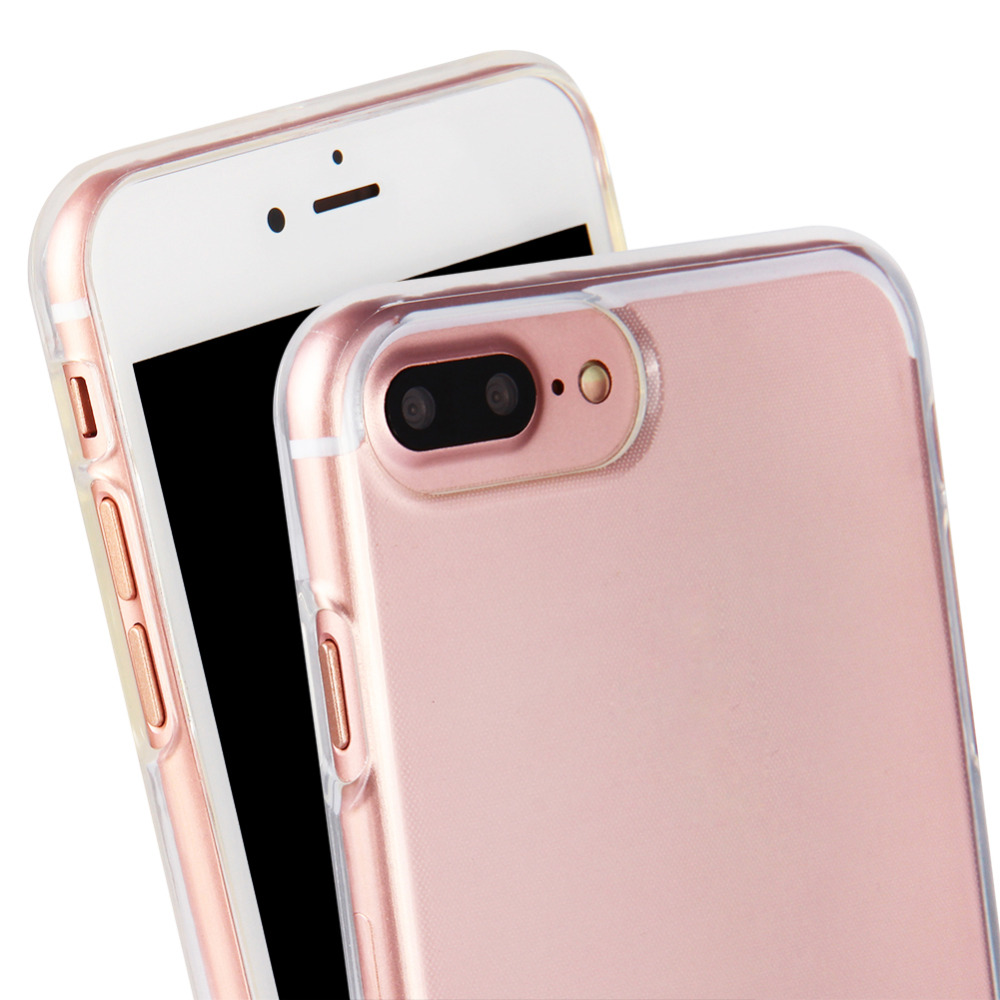 High Quality and Best Price Hot Sale Normal TPU Phone Case Double Camera Hole for IPhone 7+