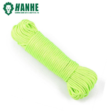 Fluorescent green 4mm 108 colors Paracord 550 100ft Parachute Cord Rope Mil Spec Type III 7Strand Climbing Camping