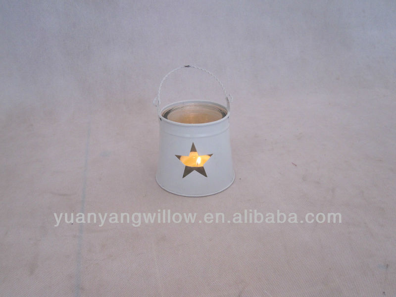 Tea Light Metal Basket Candle Holder